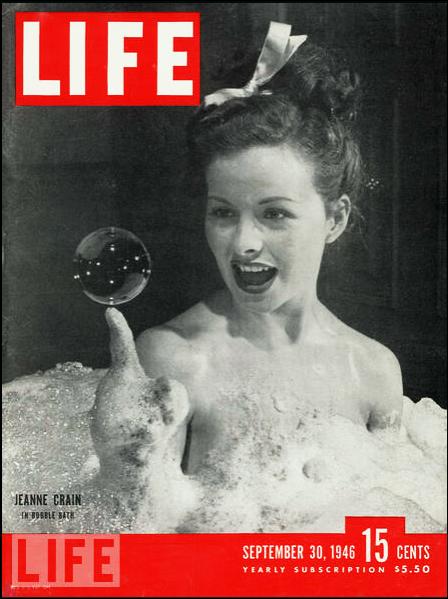 A atriz Jeanne Crain na capa da Life