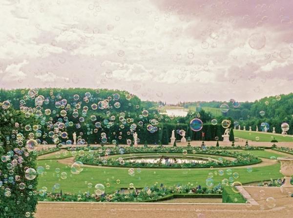 Instalação PréamBulles no jardins do Castelo de Versalhes
