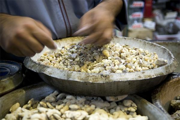 A resina solidificada. Foto: Ali Almossawi